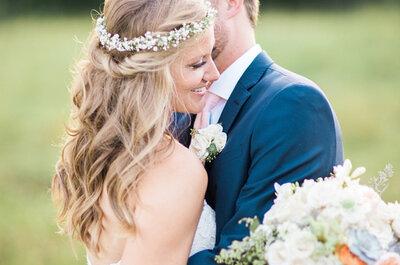 Coronas de flores para novias 2017, ¡estilo y color en tu cabeza!