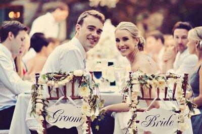 Quem senta com os noivos? Dicas para compor a mesa presidencial do seu casamento!