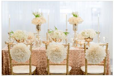 #MartesDeBodas: Eleva el glamour de tu boda con una decoración en rose gold