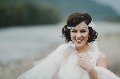 Krótkie fryzury ślubne – obowiązujące trendy!