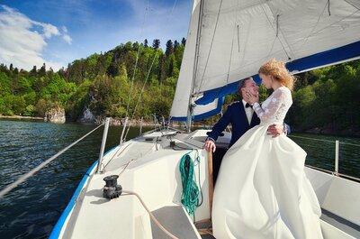 Sesja ślubna pod żaglami. Morski, inspirujący styl!