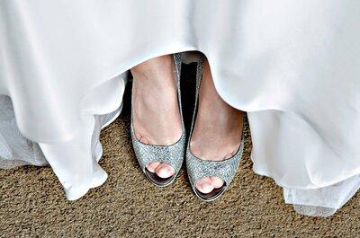 6 consigli per scegliere le tue scarpe da sposa: guida all'accessorio numero 1