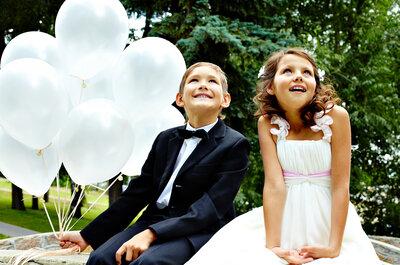 Conoce cómo organizar una boda con niños y no morir en el intento. ¡5 tips imprescindibles!