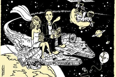 Een originele huwelijksuitnodiging met een stripfiguur: Coyote Serigraph