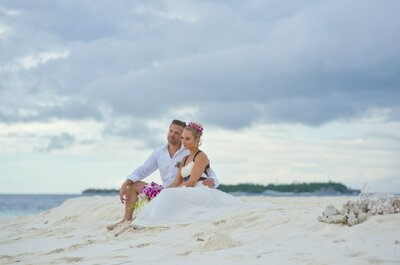 Paradise Island: Victoria + Renno's Vow Renewal in the Maldives