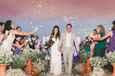 Roberta & Bruno: charmoso casamento rústico com vista para o MAR no litoral de São Paulo!