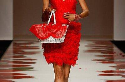 Rote Kleider für Hochzeitsgäste - Trends aus der Barcelona Bridal Week