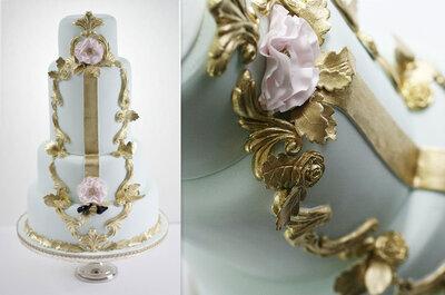 ¡Dulces que fascinan! Pastel de boda en estilo Rococó