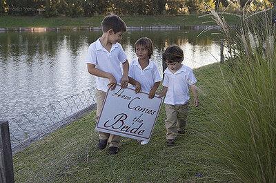 Minibuffet für die Kinder auf der Hochzeit
