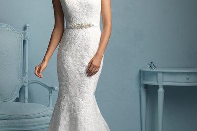 La elegancia y el glamour de los vestidos de novia de Allure Bridals 2015