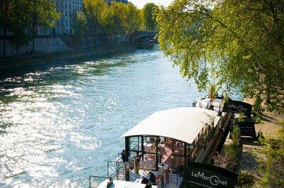 Le Marcounet, la magie d'une péniche au coeur de Paris pour votre mariage