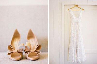 Brautschuhtrends 2014: Erdtöne und Metallic