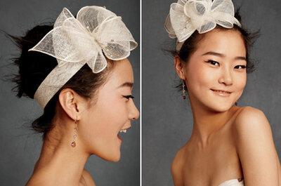 Modische Accessoires für Bräute mit kurzem Haar