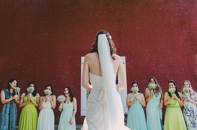 Tendencias en vestidos de matrimonio para damas de honor 2017