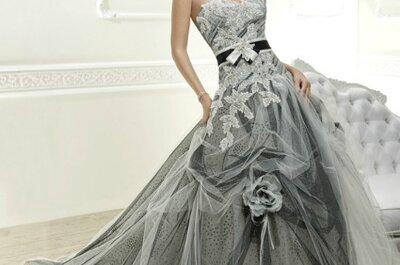 Vestidos de novia con color para 2014