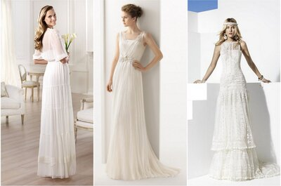 Vestidos de novia desenfadados para bodas estilo hippie