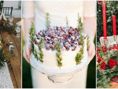 25 detalles decorativos que te convencerán de casarte en Navidad