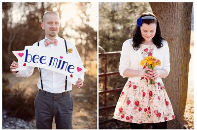 Sesión de fotos pre boda inspirada en el día de San Valentín