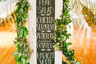 Menús para el banquete de bodas 2016: Ideas excepcionales que te sorprenderán