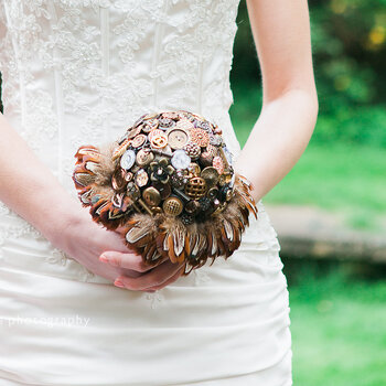Keep your hay fever at bay with a fab fake wedding bouquet