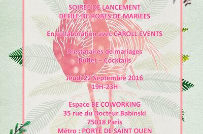La Vie en Pink Wedding et Caroll Events : soirée de lancement des deux agences et de la marque de robes de mariée Mme Pink