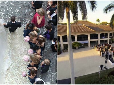 Ongelooflijke beelden van bruiloften gemaakt door drones!