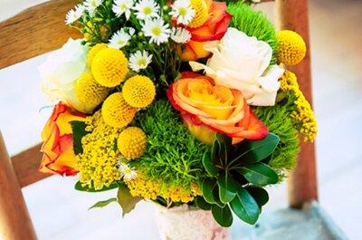 8 tipos de flores para novia, según su color