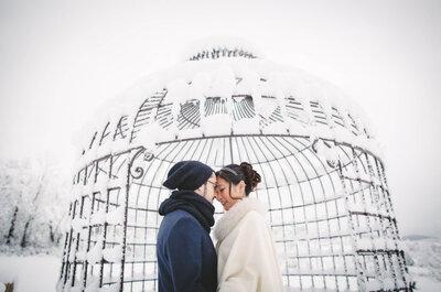 Elodie et Yoann : Un mariage sous la neige pour un joli jour magique !
