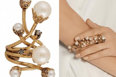 Brilla con estilo único: Accesorios en color dorado para una invitada de boda mega fashionista