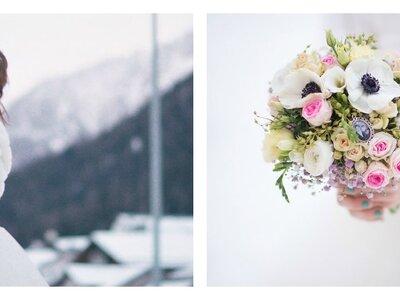 Winterliche Hochzeit im Hotel Kurhaus – Atemberaubendes Brautpaarshooting im Schnee!