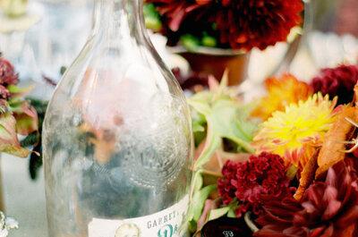 Marsala, el color del 2015 en los centros de mesa de tu boda: Romance y sofisticación