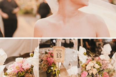 Cómo combinar distintos centros de mesa en el banquete de tu boda