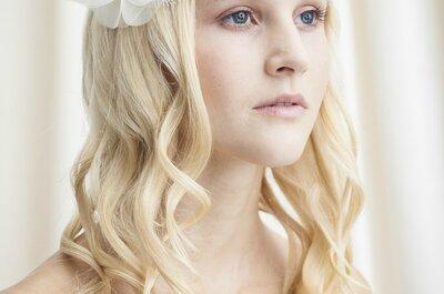 Brautfrisur 2015: Bezaubernde Haaraccessoires mit Blumendetails