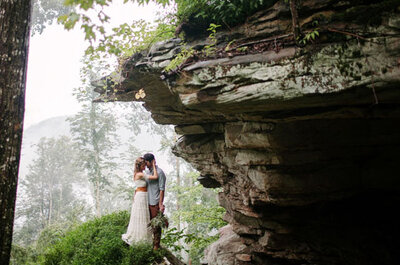 Real Wedding: Boda bohemia rústica en el bosque de West Virginia
