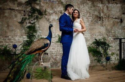 Павлинья свадьба: яркая и креативная фотосессия Ксюши и Антона