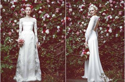 Os mais bonitos vestidos de noiva para o inverno de 2015