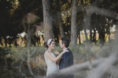Saltándose las tradiciones pero no el romanticismo: la boda de Jaime y Vicky