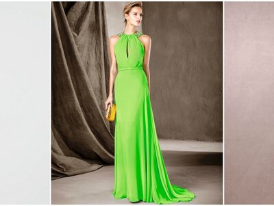Vestidos de fiesta verdes largos 2017: Diseños perfectos para una boda de noche