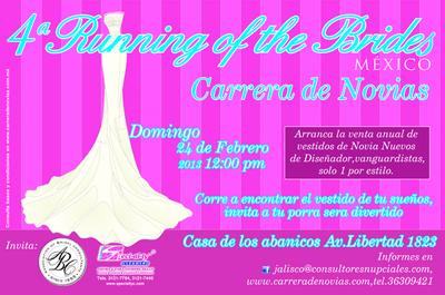 Asiste a la 4ª carrera de novias en Guadalajara, Jalisco