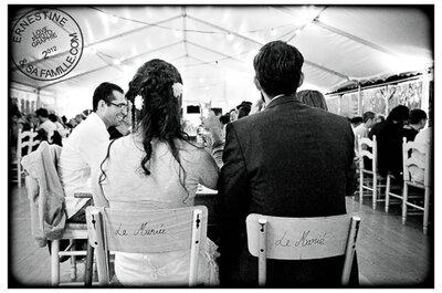 La foto de bodas de la semana: Sillas personalizadas