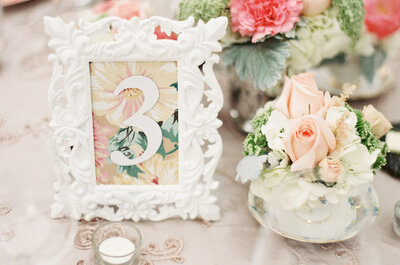 Fun and original table numbers for your wedding