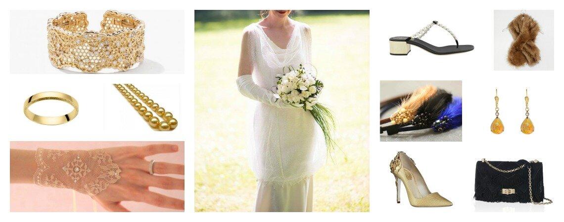 Look pour une mariée Gatsby : une robe des «années folles» et ses 10 accessoires