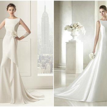 Vestidos de novia con cuello barco: unión de elegancia y distinción