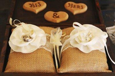 7 materiales para hacer tus argollas de boda. ¡El número 3 te va a fascinar!