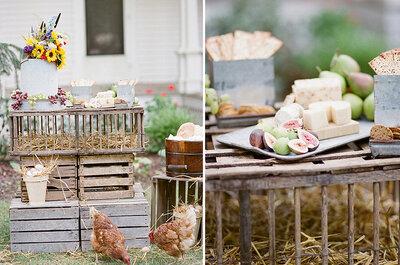 ¿Cuál es el mejor estilo para una boda campestre?