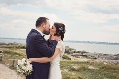 Laetitia et Benjamin : un photobooth vintage, une déco DIY et une belle cérémonie au bord de l'eau