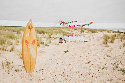 Relive the magic of summer with a surf inspired wedding