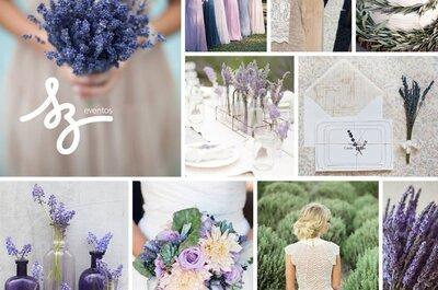 Un suave halo de color púrpura y lavanda para tu boda: Ideas para un entorno mágico
