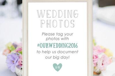 El hashtag para tu boda: Por qué deberías pagar por este servicio tan moderno