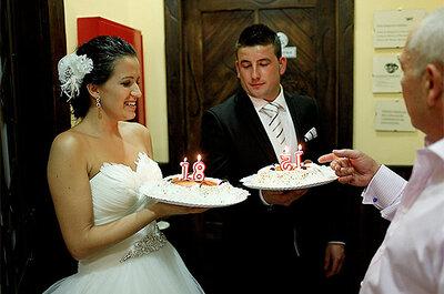 ¡'Happy Birthday' en tu boda! Sorprende a los invitados que cumplan ese día